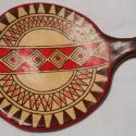 Kétosztatú inka tálka, Dekoráció, Konyhafelszerelés, Otthon, lakberendezés, Kerámia, A kis tányérok az inka kultúra jellegzetes agyagedény típusa. Csaknem teljesen laposak, belsejük en..., Meska
