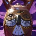 Sámánt ábrázoló edény, Dekoráció, Otthon, lakberendezés, Kerámia, Az itt látható edény a Paracas Cavernas dél-amerikai pre-kolumbián kultúra képviselője (Kr.e. 300 -..., Meska