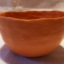 Vörös színű, fényezett felületű teáscsésze, Otthon, lakberendezés, Kerámia, Az itt látható teáscsésze felülete kívül-belül polírozott, ez adja selyemfényét. Egyszerű természet..., Meska