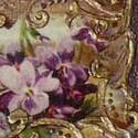 Barokk tálca, Otthon, lakberendezés, Kaspó, virágtartó, váza, korsó, cserép, Decoupage, szalvétatechnika, 30cm-es, aranyozott, découpage technikával, 3D-s kiemeléssel készített szépség. Gyanta védi, ami fu..., Meska