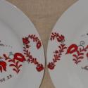 Magyaros mintájú szett, Konyhafelszerelés, Dekoráció, Kerámia, 6 részből álló porcelán felnőtt készlet,magyar népi motívummal festve. A neveket és dátumot termész..., Meska