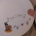 """Étkészlet Tünde részére, Konyhafelszerelés, Dekoráció, Kerámia, Ezt a 6 részes porcelán egyedi étkészletet """"cselov"""" kérésére festettem. A tányérok 27 cm átmérőjűek,..., Meska"""
