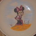 Minnie egér, Baba-mama-gyerek, Konyhafelszerelés, Bögre, csésze, Kerámia, 3 részből álló kerámiagyermek étkészlet. Magastüzű kerámia alapra saját kézzel festve,Minnie egér m..., Meska