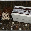Csipkés Pénzátadó doboz , Esküvő, Meghívó, ültetőkártya, köszönőajándék, Nászajándék, Papírművészet, Esküvőre vagy bármilyen más alkalomra készülők figyelmébe ajánlom a következő saját készítésű  idéz..., Meska