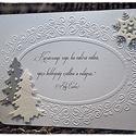 Karácsonyi rege- Karácsonyi képeslap, Karácsonyi, adventi apróságok, Naptár, képeslap, album, Ajándékkísérő, képeslap, Képeslap, levélpapír, Papírművészet, Dombornyomat, gyöngyházfényű csillogás és csillám jellemzi legújabb képeslapomat, mely egyszerűen f..., Meska