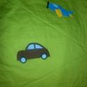 Járműves takaró 80x140cm, Baba-mama-gyerek, Gyerekszoba, Falvédő, takaró, Patchwork, foltvarrás, Varrás, kedvenc járműveit is kérheted a takaróra. Flízzel bélelt ágytakaró. Ha más méretet vagy színűt szer..., Meska