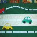 Járműves falvédő70x200cm, Baba-mama-gyerek, Gyerekszoba, Falvédő, takaró, Patchwork, foltvarrás, Varrás, Kedvenc járműveit is kérheted a falvédőre,ez csak egy ötlet. Flízzel bélelt,gépi hímzéssel kerültek..., Meska
