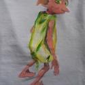 Dobby a manó- festett fels?, Képz?m?vészet, Ruha, divat, cip?, N?i ruha, Fels?rész, póló, , Meska