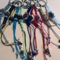 Shamballa kulcstartók 1.0, Mindenmás, Kulcstartó, Csomózás, Mindenmás, Shamballa kristályokkal díszített kulcstartó, vagy táskadísz,vagy tolltartó zipzárjára dísz, vagy k..., Meska