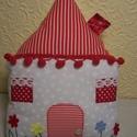 Házikó figurapárna piros, Baba-mama-gyerek, Dekoráció, Otthon, lakberendezés, Gyerekszoba, , Meska