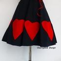 Valentine's Day Collection / Vörös Nagy Szívek  szoknya., Ruha, divat, cipő, Női ruha, Szoknya, Varrás, Cherryland Design új limitált szériás Valentin napi kollekciójának új darabja . Egyedi méretben és ..., Meska