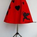 Valentine's Day Collection / Vörös Szívek  szoknya., Ruha, divat, cipő, Női ruha, Szoknya, Cherryland Design új limitált szériás Valentin napi kollekciójának új darabja . Egyedi méretben és k..., Meska