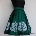 Cherryland Design Matyó Lány  Szoknya  , Ruha, divat, cipő, Női ruha, Szoknya, Cherryland Design új limitált szériás Matyó lány  kollekciójának új darabja .  Kézzel festett , egye..., Meska