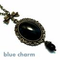 Barokk stílusú nyaklánc fekete üveggel, Ékszer, óra, Nyaklánc, Ékszerkészítés, Betűkód: B AKCIÓ: Ha az összetartozó betűkódú termékekből vásárolsz egy nyakláncot, egy gyűrűt és e..., Meska