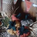 Őszanyó ajándékai-textilkoszorú, Otthon, lakberendezés, Dekoráció, Mindenmás, Virágkötés, Pompázatos színeit szórja elénk az ősz, ebből válogattam. Harmonizáló textilekből kézzel öltögetett ..., Meska