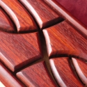 Hullámfonatos nyelvesdob fadob Tongue drum hangmintával, Férfiaknak, Képzőművészet, Mindenmás, Hangszer, zene, Famegmunkálás, Népi játék és hangszerkészítés, A hangszer teste fenyőfából készült, az ütő felület hangolt rezgő nyelvei padouk fából. Hangolása  ..., Meska