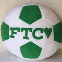 FTC focilabda párna, Férfiaknak, Otthon, lakberendezés, Focirajongóknak, Lakástextil, Varrás, Patchwork, foltvarrás, FTC feliratos foci labda alakú párna foci rajongóknak. Puha polár anyagból készült. 30cm átmérőjü A..., Meska