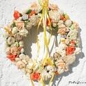 Húsvéti ,tavaszi ajtódísz, kopogtató ajándék , Dekoráció, Húsvéti apróságok, Otthon, lakberendezés, Ünnepi dekoráció, Mindenmás, Virágkötés, Közeleg a tavasz, ideje készülődni a húsvétra az ajtó sem maradjon díszítetlenül, Sok színes virágg..., Meska