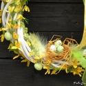 Fonott koszorúalap tavaszra, húsvétra , Dekoráció, Húsvéti apróságok, Otthon, lakberendezés, Ünnepi dekoráció, Mindenmás, Virágkötés, Fonott koszorú alapot díszítettem húsvétra. Haza jövet jobb hangulata lesz, ha az ajtót látva egy t..., Meska