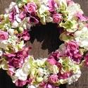 Hortenziával díszített husvéti ajtódísz, kopogtató, Dekoráció, Húsvéti apróságok, Otthon, lakberendezés, Ünnepi dekoráció, Mindenmás, Virágkötés, Egyik kedvenc koszorúm, húsvétra készítettem. Minőségi selyem virágok és tojás díszíti. Húsvétra, a..., Meska
