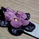 Lila - Rózsaszín virágos könyvjelző, Mindenmás, , Meska