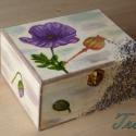Mákos mákvirágos doboz, Otthon, lakberendezés, Tárolóeszköz, Doboz, , Meska