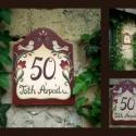 Festett utcatábla tulipános, madaras, Otthon, lakberendezés, Utcatábla, névtábla, Festett utcatábla, egyedi, vízálló fa rétegelt lemezből, festve, lakkozva méretei:21cmx16cm Kérésre ..., Meska