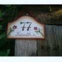 Tulipános utcatábla, Otthon, lakberendezés, Dekoráció, Dísz, Utcatábla, névtábla, Kézzel festett utcatábla , megrendelésre Alapanyaga vízálló rétegelt lemez. méretei:21,5cm x 20cm  K..., Meska