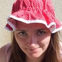 Kifordítható kalap, Ruha, divat, cipő, Baba-mama-gyerek, Kendő, sál, sapka, kesztyű, Sapka, Varrás, Kifordítható nyári kalap, kétféle mintával. Kis és nagylányokat egyaránt megvédi a napszúrástól. Gu..., Meska