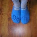 horgolt lábbeli/papucs/mamusz, Ruha, divat, cipő, Cipő, papucs, Horgolás,  A képeken látható lábbelik horgolással készültek. Lehet kérni névhímzéssel vagy anélkül, bármilyen..., Meska
