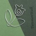 Tulipán  - könyvjelző, Képeslap, album, füzet, Mindenmás, Könyvjelző, Fémmegmunkálás, Mindenmás, A könyvjelző hossza: 4cm  A könyvjelzők készítésénél nem használok sablont, szabad kézzel készülnek..., Meska