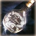 Esküvőre - magyar népmese, Férfiaknak, Magyar motívumokkal, Esküvő, Nászajándék, Üvegművészet, Esküvőre készült ajándék, kézzel gravírozott palack.   Anforit 200 ml-es üveg 15 cm magas   ***A te..., Meska