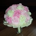Mennyaszonyi, vagy Ballagási csokor ,Esküvői csokor , Képzőművészet, Virágkötés, Habrózsából készült csokor, mely egyaránt örömet tud szerezni egy gyönyörű menyasszonynak, mint egy..., Meska