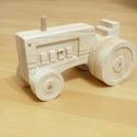 Fa játék traktor, Játék, Fajáték, Famegmunkálás, Fa játék traktor gyerekeknek. A traktor minden elemét 18mm-es fenyőfal polc anyagából alakítom ki m..., Meska