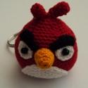 Angry Birds kulcstartó, Kulcstartó, Angry Birds kulcstartó  Átmérő kb: 4,5 cm, a csőrével együtt a legszélesebb pontja 5,7 cm  E..., Meska