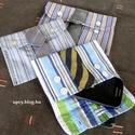 Kártyatartó névjegytartó neszesszer tok ingből és nyakkendőből, Táska, Férfiaknak, Pénztárca, tok, tárca, Zsebkendőtartó, Újrahasznosított alapanyagból készült termékek, Varrás, Két ing kézelőjéből és hozzájuk passzoló nyakkendőből készítem ezt a praktikus tokot. Sok mindent l..., Meska