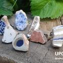 Extra mozaik darabokból készült gyűrű, Ékszer, óra, Gyűrű, Egyedileg válogatott, tisztított csiszolt és lakkozott antik csempedarabokból készítettem ezeket a g..., Meska