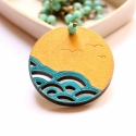 A Tenger - design ékszer - egyrétegű kerek nyaklánc - Woody minikollekció, Ékszer, óra, Nyaklánc, Imádom nézni a tengert: a hullámzását, az erejét, a végtelenségét. Emellett még imádom a japán hullá..., Meska