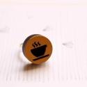 Kávé - gyűrű - Ikon kollekció - arany, fekete, Ékszer, óra, Gyűrű, Íme az új gyűrűkollekció, melynek neve IKON. Az IKON gyűrűkből összesen hétféle van: minden  napra e..., Meska