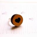 Szív - gyűrű - Ikon kollekció - arany, fekete, Ékszer, óra, Gyűrű, Íme az új gyűrűkollekció, melynek neve IKON. Az IKON gyűrűkből összesen hétféle van: minden  napra e..., Meska