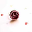 Bicikli - gyűrű - Ikon kollekció - rózsaszín, Ékszer, óra, Gyűrű, Íme az új gyűrűkollekció, melynek neve IKON. Az IKON gyűrűkből összesen hétféle van: minden  napra e..., Meska