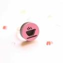 Kávé - gyűrű - Ikon kollekció - rózsaszín, fekete, Ékszer, óra, Gyűrű, Íme az új gyűrűkollekció, melynek neve IKON. Az IKON gyűrűkből összesen hétféle van: minden  napra e..., Meska