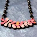 Pozsgások - design ékszer - pink nyaklánc - Woody kollekció, Ékszer, óra, Nyaklánc, Új kedvenceim, a pozsgás növények!  A nyaklánc a következő anyagokból készült:  * pozsgás növény for..., Meska