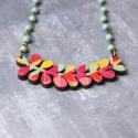 Pozsgások- geometrikus nyaklánc - Woody kollekció, Ékszer, óra, Nyaklánc, Új kedvenceim, a pozsgás növények!  A nyaklánc a következő anyagokból készült:  * pozsgás növény for..., Meska