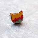 Városi cica gyűrű - Woody kollekció , Ékszer, óra, Gyűrű, A gyűrű a következő anyagokból készült:  * nyomtatott cica alakú fa városképet ábrázoló mintával * e..., Meska