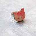 Rózsaszín cica gyűrű - Woody kollekció , Ékszer, óra, Gyűrű, A gyűrű a következő anyagokból készült:  * nyomtatott cica alakú fa  * ezüst színű, sárgaréz állítha..., Meska