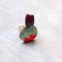 Városi nyuszi gyűrű - Woody kollekció , Ékszer, óra, Gyűrű, A gyűrű a következő anyagokból készült:  * nyomtatott nyuszi alakú fa városképet ábrázoló mintával *..., Meska