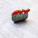 Városi bálna gyűrű - Woody kollekció , Ékszer, óra, Gyűrű, A gyűrű a következő anyagokból készült:  * nyomtatott bálna alakú fa városképet ábrázoló mintával * ..., Meska