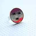 Városi Halastó - nagy gyűrű - Woody kollekció , Ékszer, óra, Gyűrű, A gyűrű a következő anyagokból készült:  * nyomtatott halacskás fa városképet ábrázoló mintával * ez..., Meska