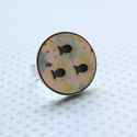Kék Halastó - nagy gyűrű - Woody kollekció , Ékszer, óra, Gyűrű, A gyűrű a következő anyagokból készült:  * nyomtatott halastó alakú fa  * ezüst színű, sárgaréz állí..., Meska